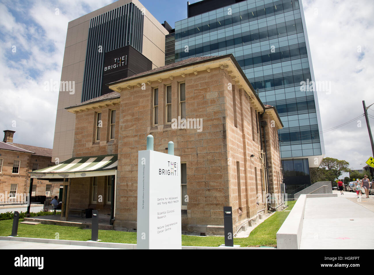 Bright alliance in Sydney, cancer research involving Prince of Wales hospital , Lowy cancer centre, UNSW, nelune - Stock Image
