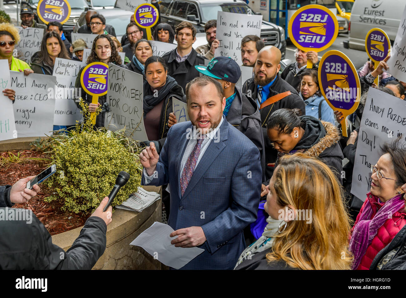 New York, United States. 12th Jan, 2017. New York City Council Member Corey Johnson - On Thursday, January 12, 2017, - Stock Image