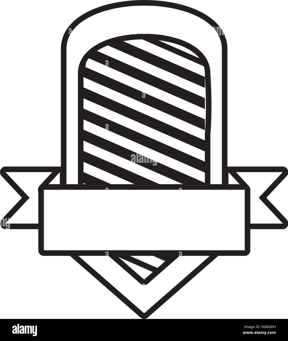 shield template stripes outline empty vector illustration eps 10 ...