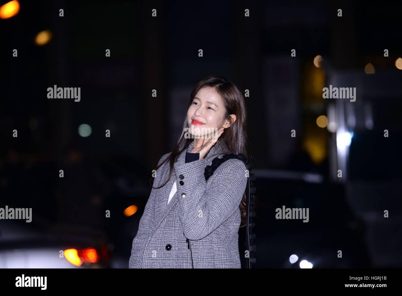 Seoul, Korea. 11th Jan, 2017. (China and Korea Rights Out) Lee Sung Kyung, Ju-Hyuk Nam, Jae-yun Lee, Su-jin Gyeong Stock Photo