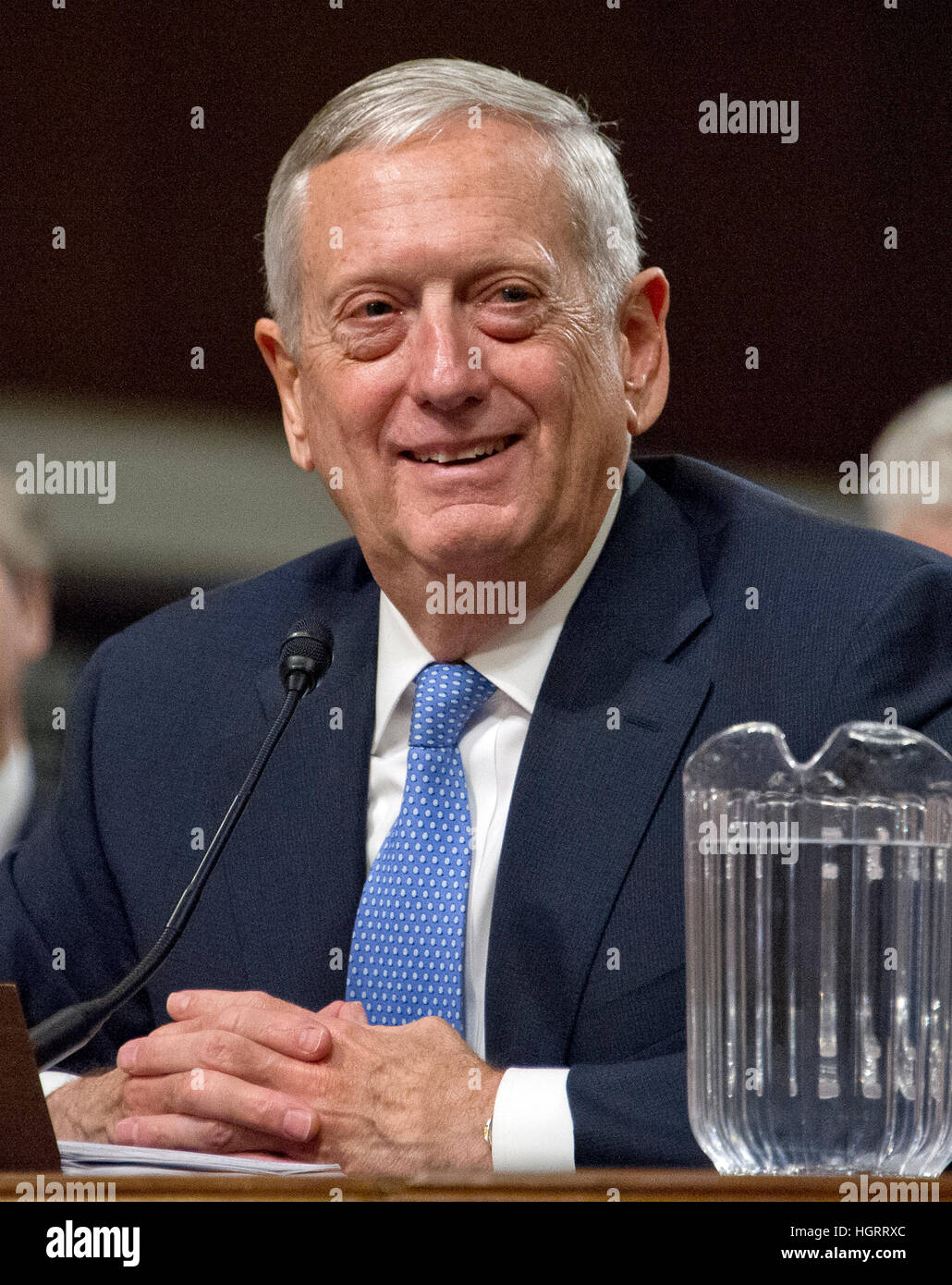 Washington DC, USA. 12th January 2017. United States Marine Corps General James N. Mattis (retired) testifies before Stock Photo