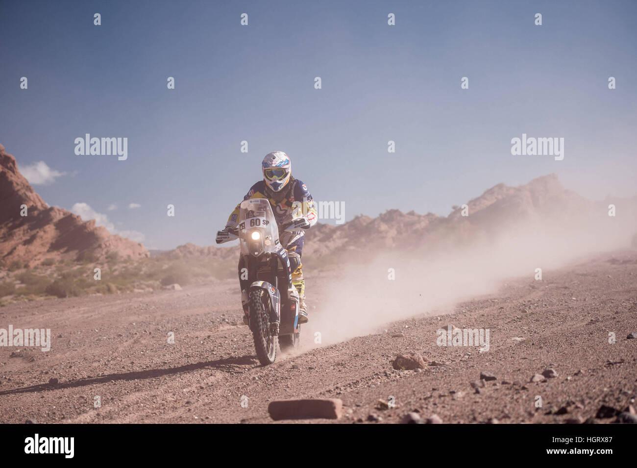 San Juan, Argentina. 12th Jan, 2017. 060 Ivanitun Aleksandr (RUS) Husqvarna during the Dakar Rally 2017. © - Stock Image
