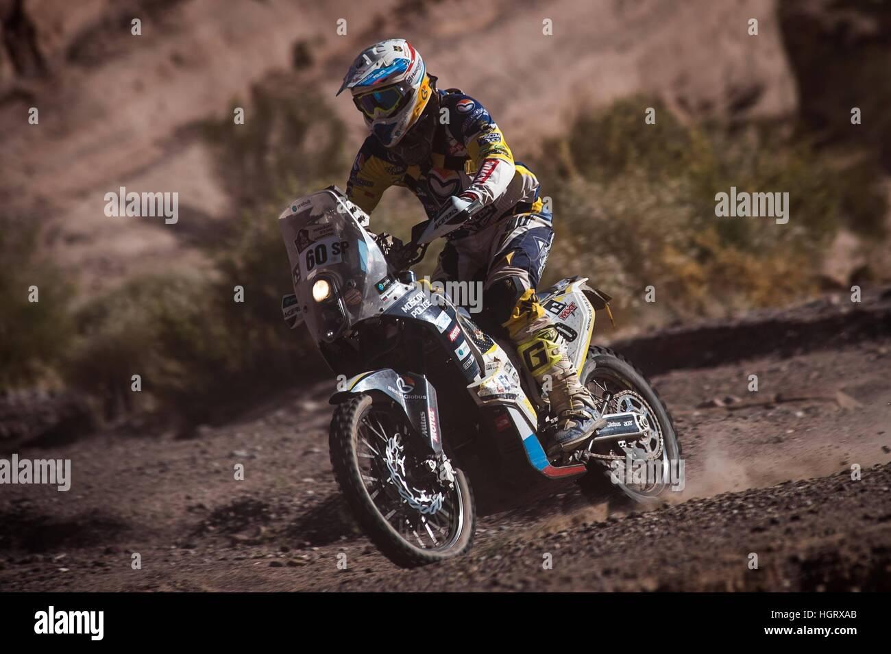 San Juan, Argentina. 12th Jan, 2017. 60 Ivanitun Aleksandr (RUS) Husqvarna during the Dakar Rally 2017. © Gustavo - Stock Image