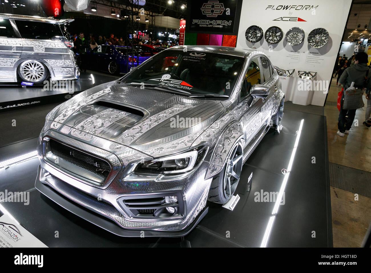 Subaru Wrx Custom >> Tokyo Japan 13th Jan 2017 A Customized Subaru Wrx Sti On Display