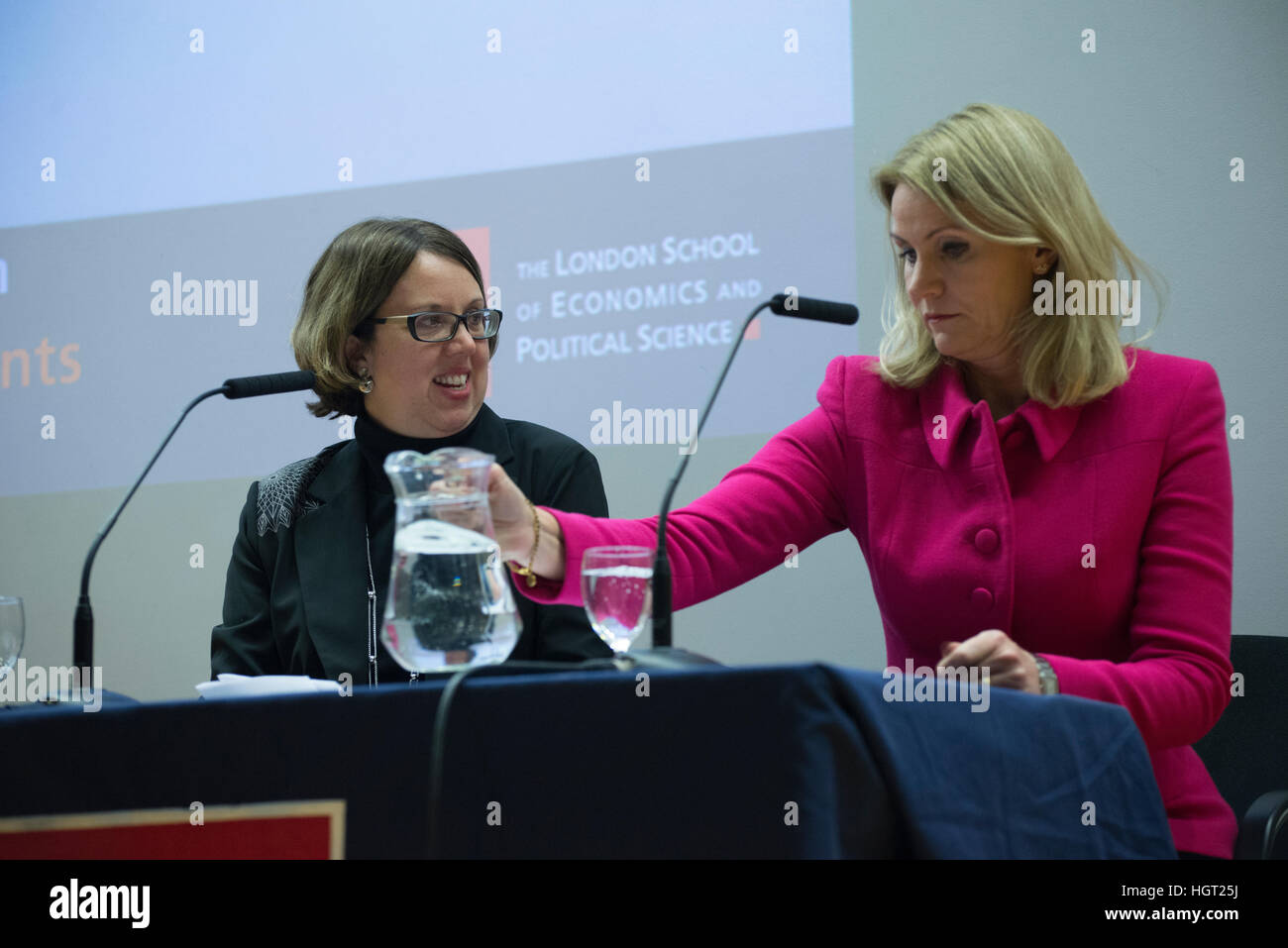 London, UK. 12th January 2017. Dr Jennifer Jackson Preece (L), Associate Professor of Nationalism in Europe at the - Stock Image