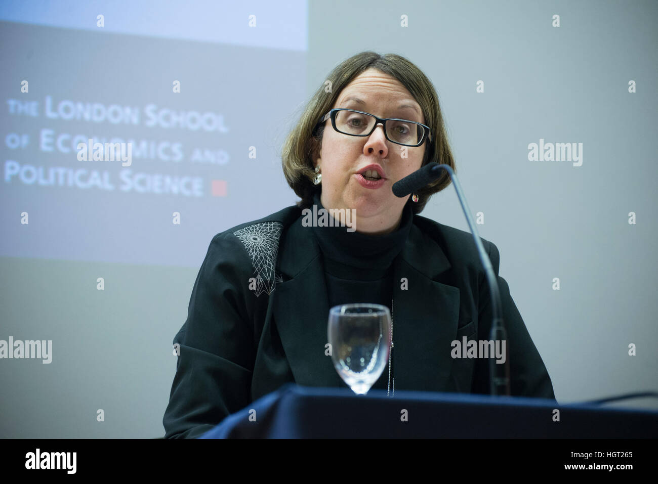London, UK. 12th January 2017. Dr Jennifer Jackson Preece, Associate Professor of Nationalism in Europe at the London - Stock Image