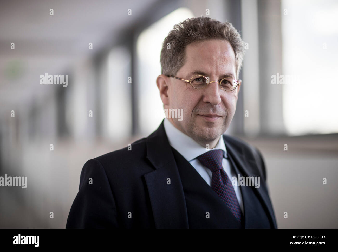 Berlin, Germany. 5th Jan, 2017. Hans-Georg Maassen, President of the Federal Department for the Protection of the - Stock Image