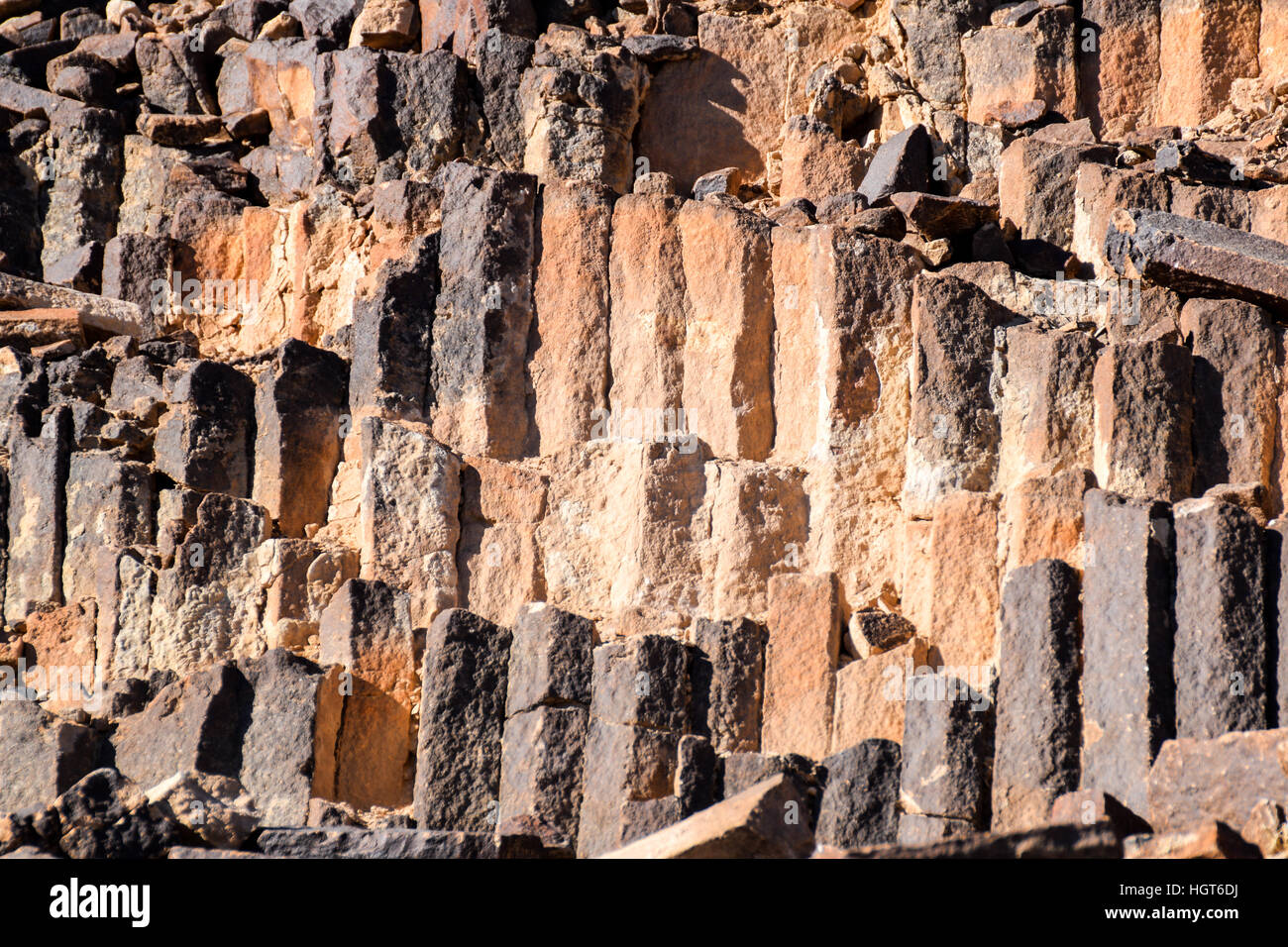 Ancient stone wall texture for design or as background - Stock Image