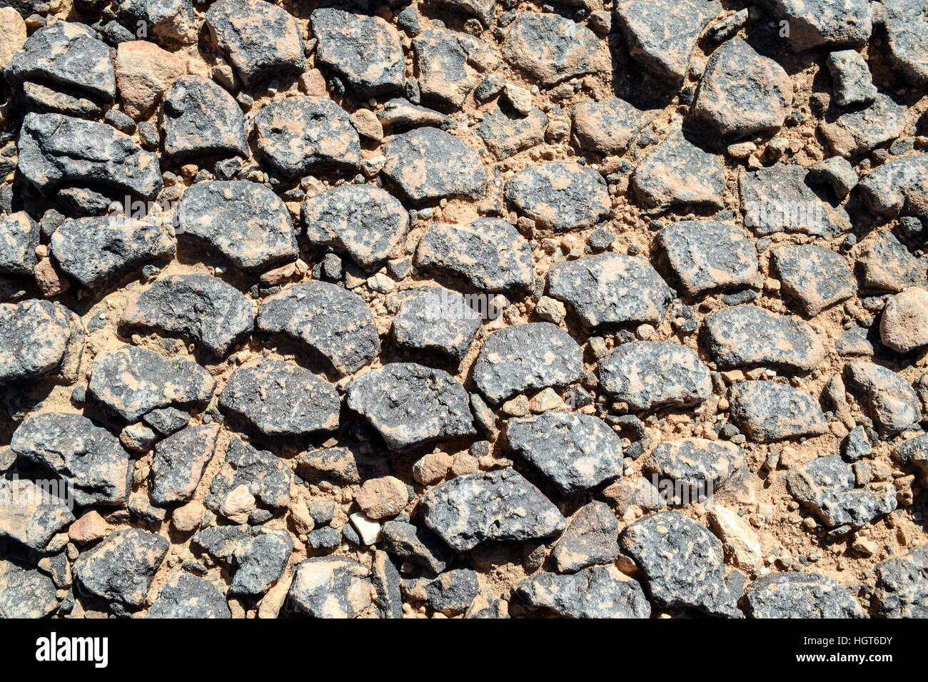 Natural stone floor texture for design or as background - Stock Image
