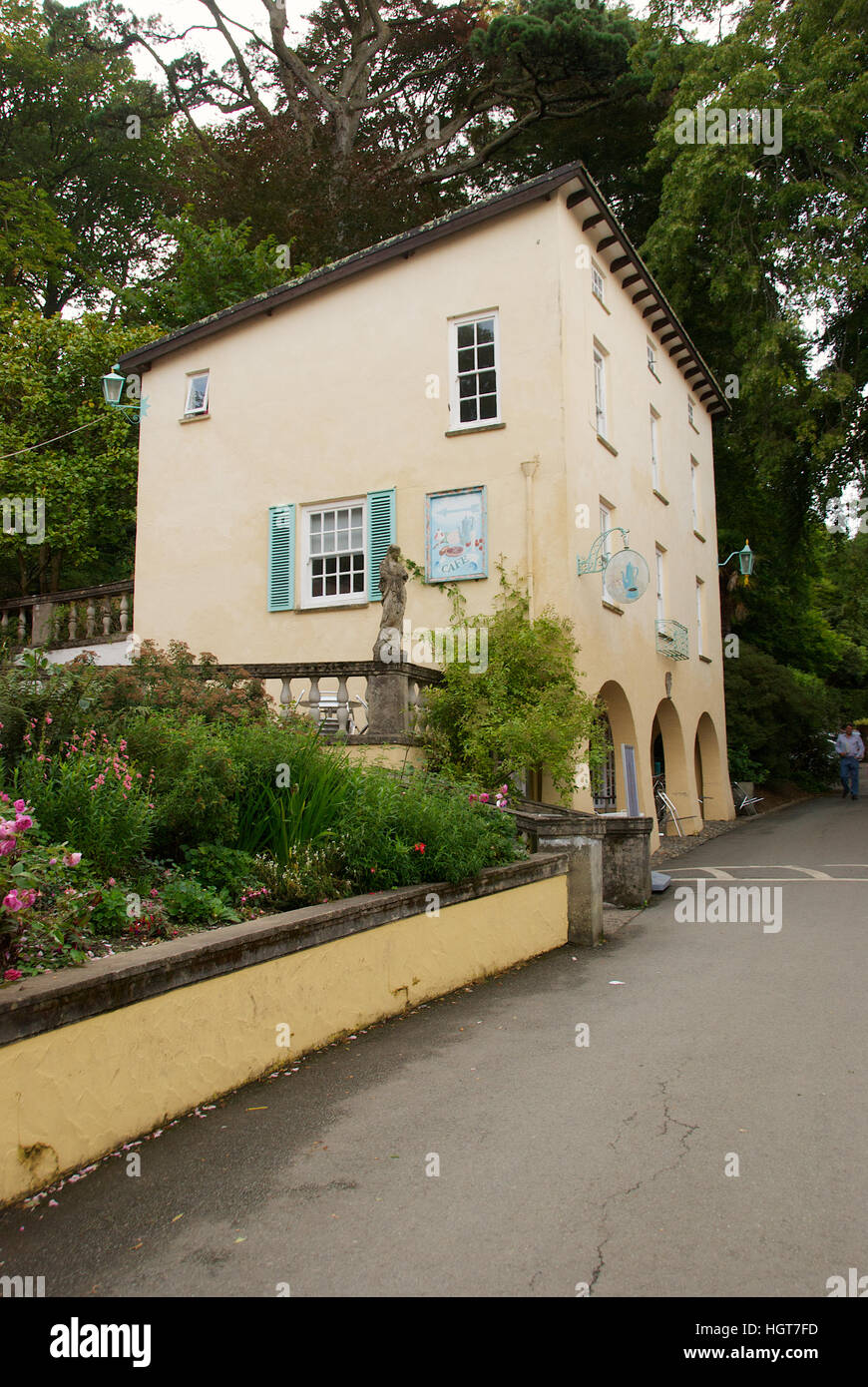 Portmeirion village, Gwynedd, North Wales, U.K. Stock Photo