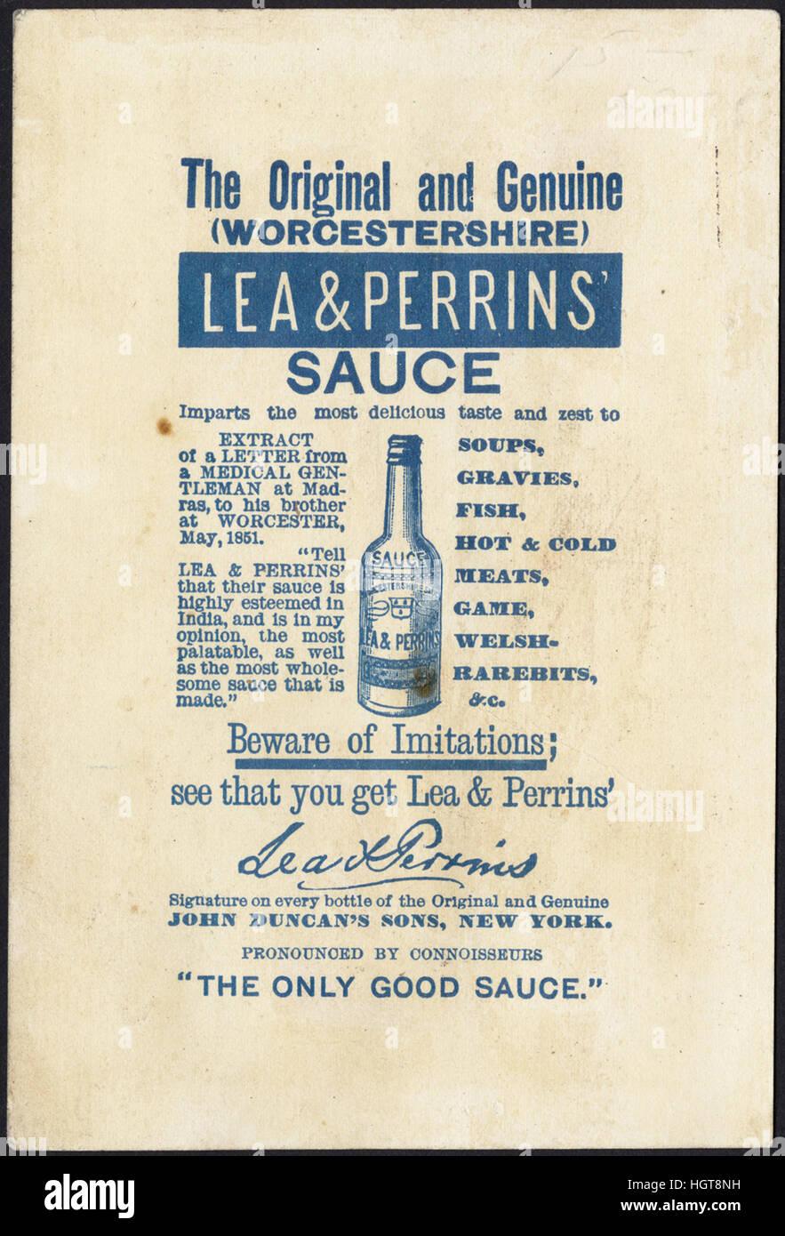 Lea & Perrins' Sauce [back]  - Food Trade Card - Stock Image