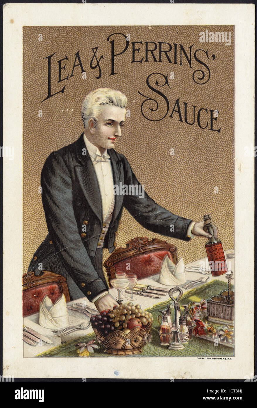 Lea & Perrins' Sauce [front]  - Food Trade Card - Stock Image