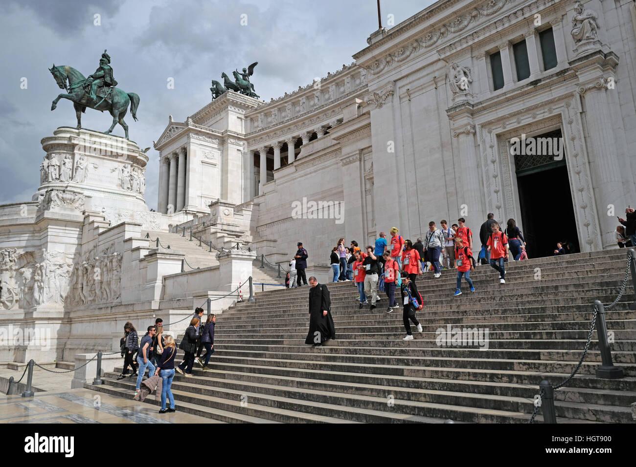 Monument Van Victor Emanuel Ii.Monument Van Victor Emanuel Ii In Rome Stock Photo