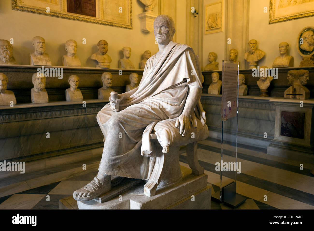 roman art in the emperor hall exhibited at the Capitoline Museum in Rome Stock Photo