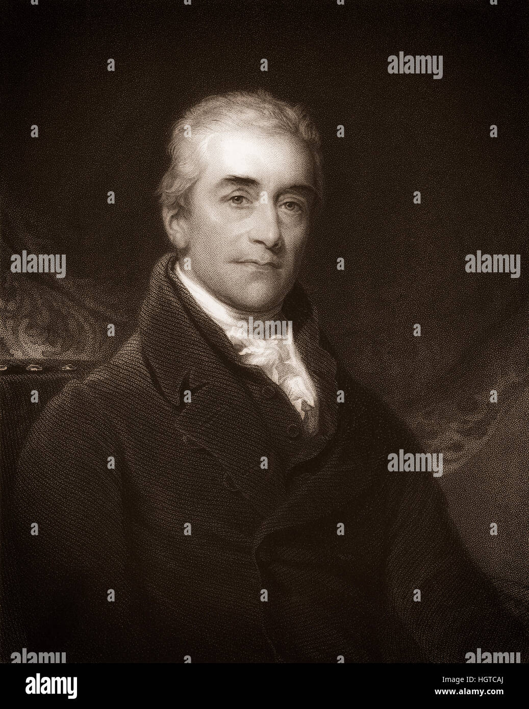 Sir Samuel Romilly, 1757-1818, a British legal reformer - Stock Image