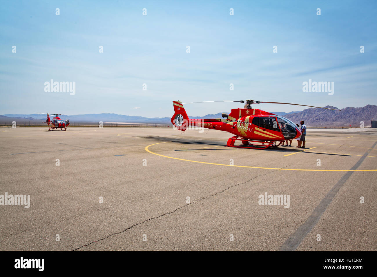Grand Canyon Helicopter - Stock Image