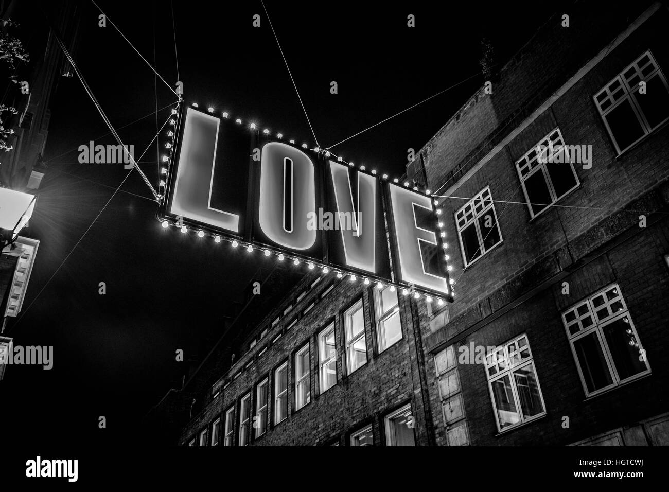 Love Sign Carnaby London - Stock Image