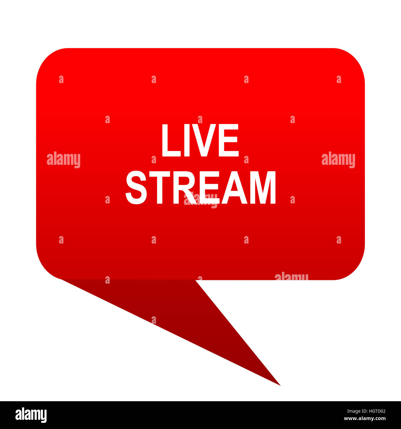 live stream bubble red icon - Stock Image