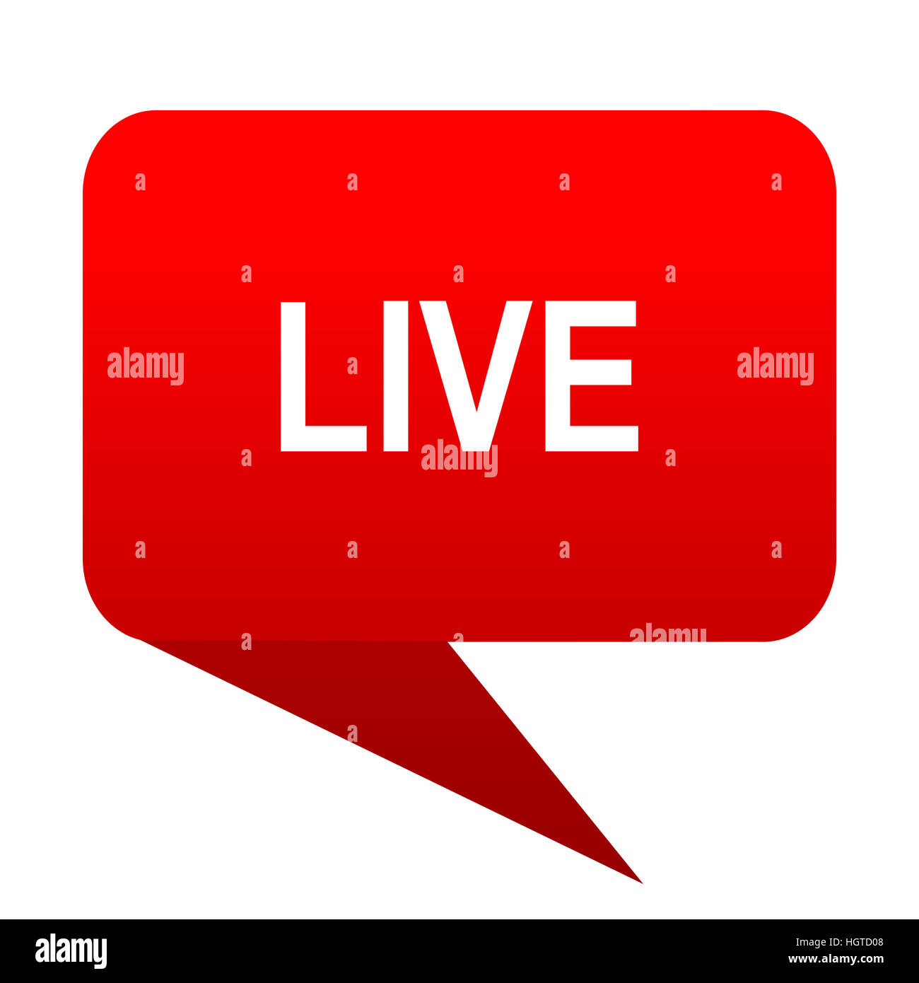 live bubble red icon - Stock Image