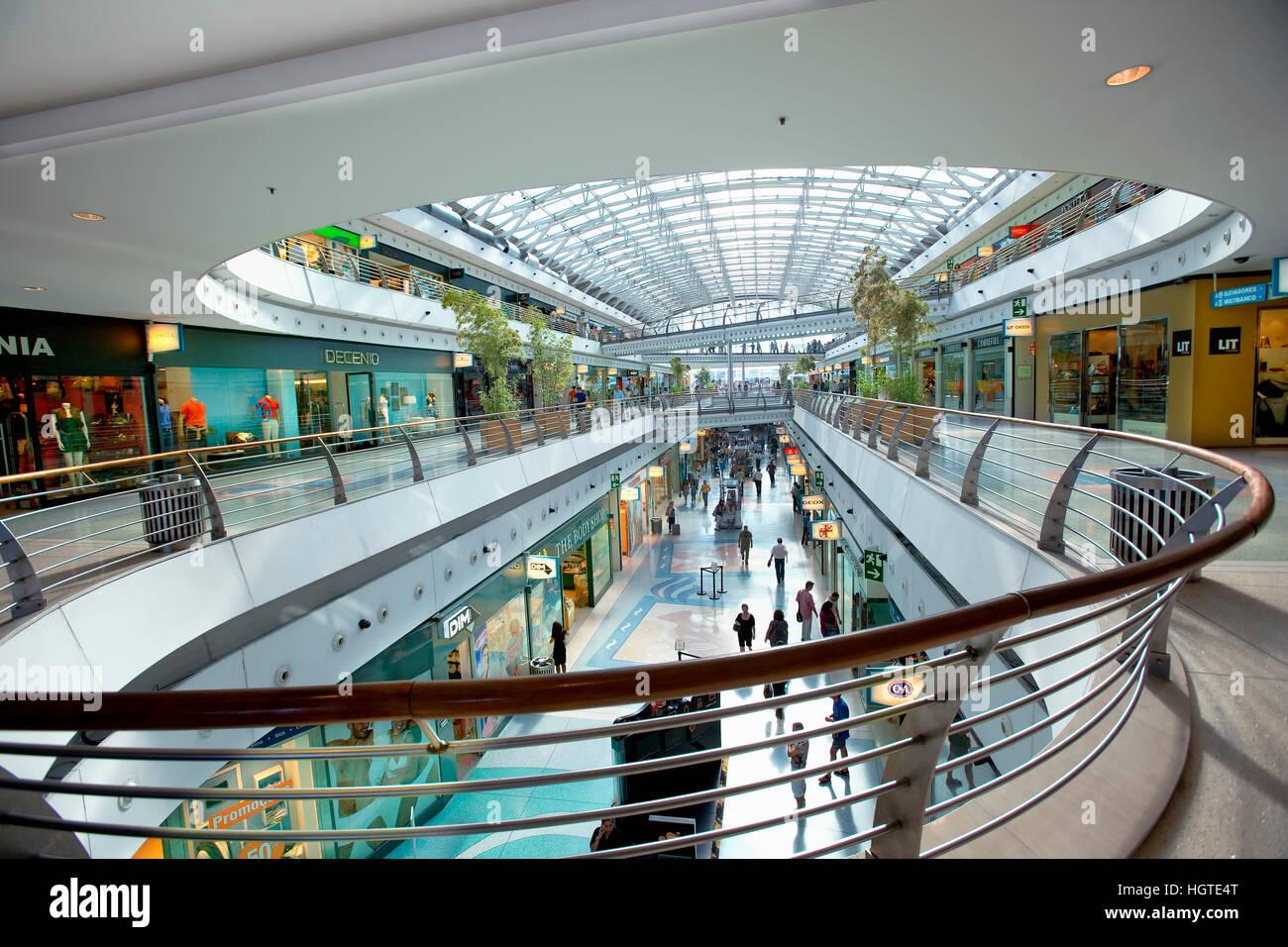 Vasco de Gama shopping center in the Oriente district in Lisbon - Stock Image