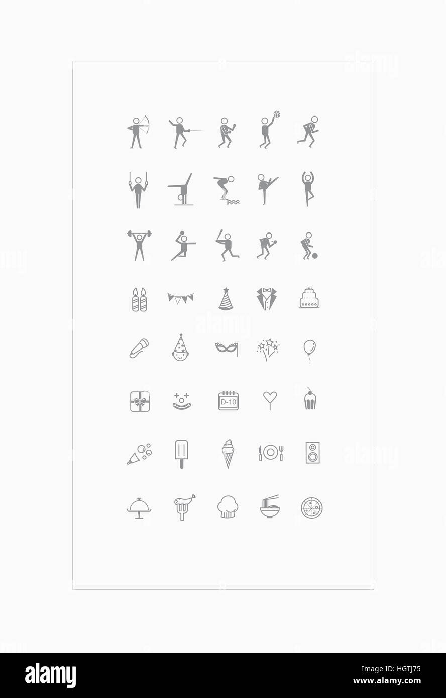 Set of various line icons - Stock Image