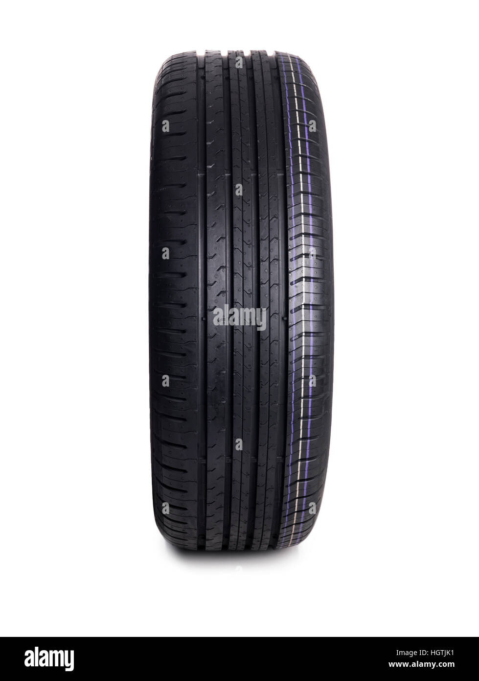 Car Tire isolated on white - Stock Image