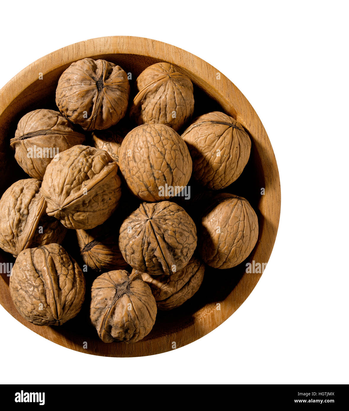 Walnut isolated in bowl - Stock Image