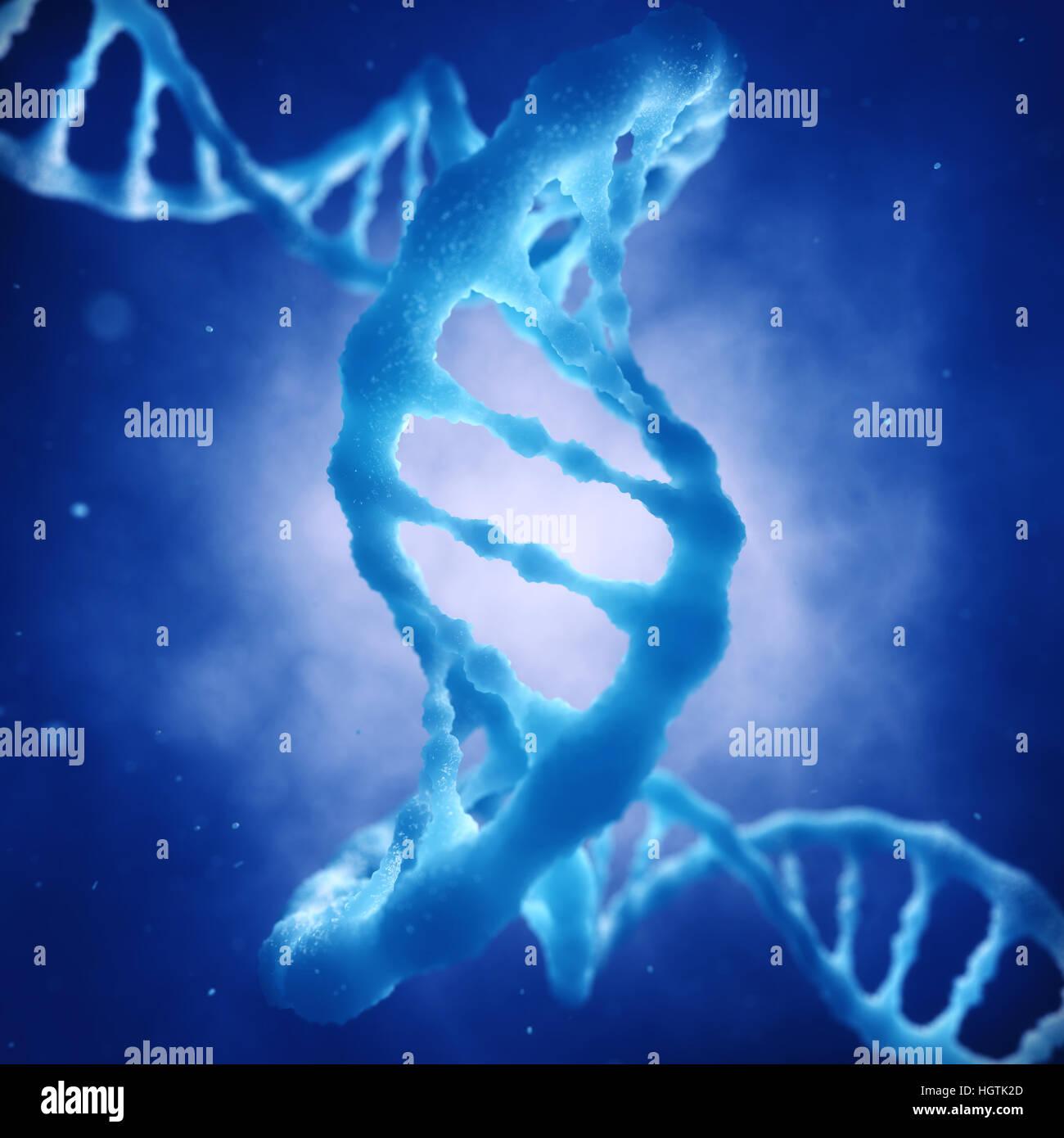 Dna double helix molecule , Gene mutation , Dna Sequencing , Genetic disorder - Stock Image