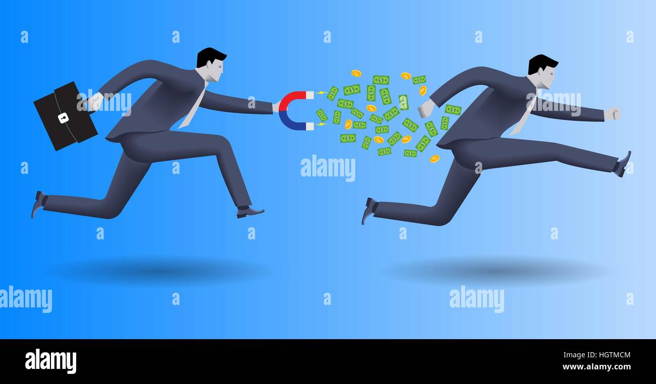 Debt collector business concept - Stock Image