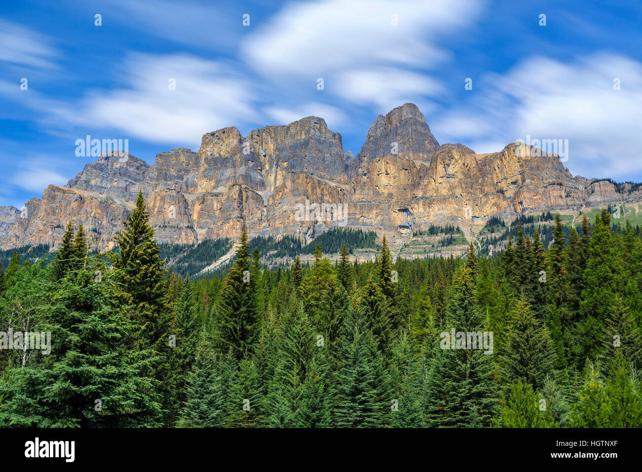 Castle Mountain, Banff National Park, Alberta, Canada. - Stock Image