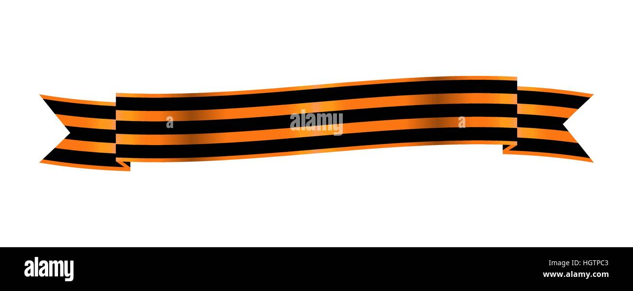 Two-color Ribbon Order of St. George. For service and bravery - Stock Vector