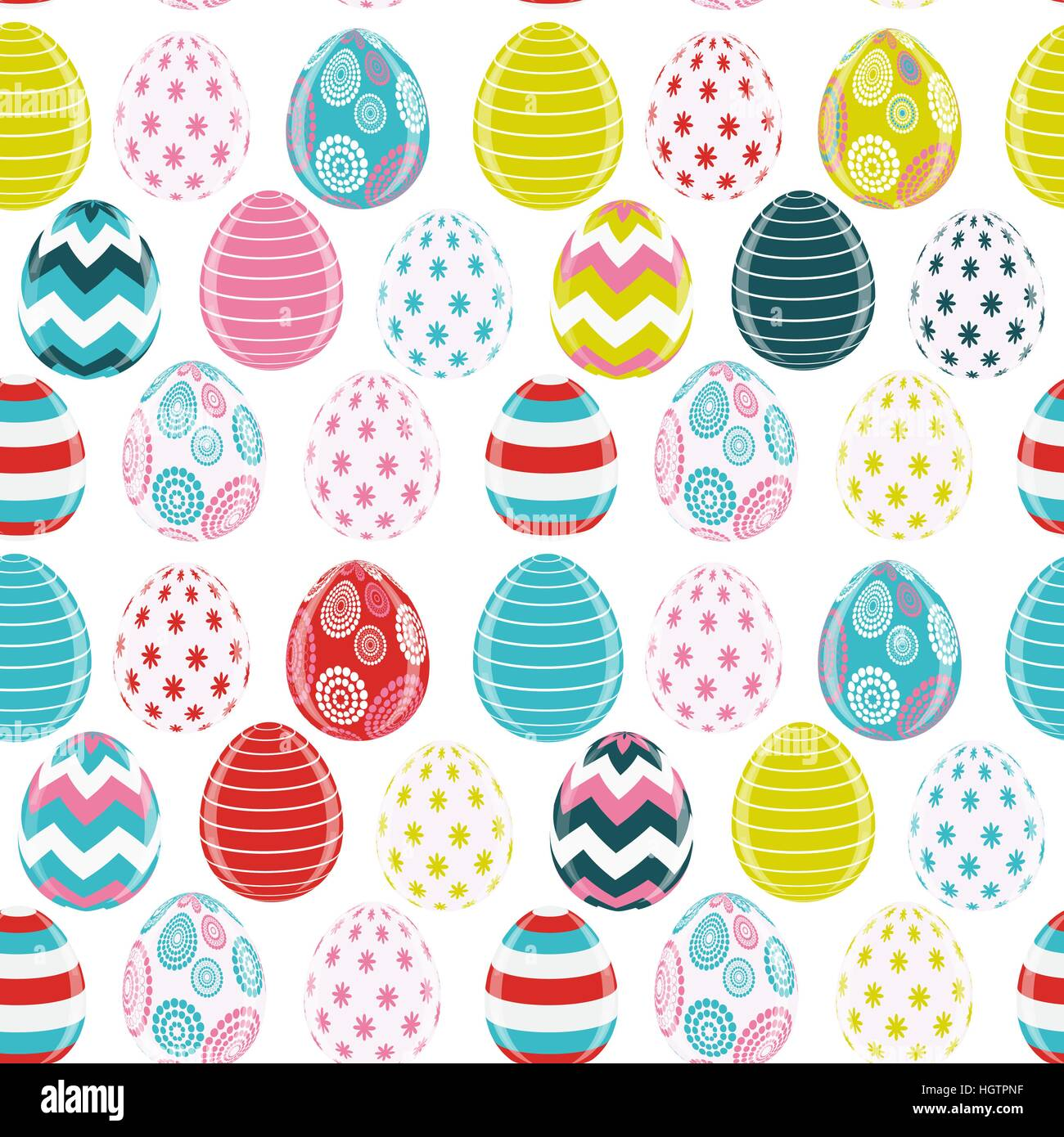 Beautiful Easter Egg Seamless Pattern Background Vector Illustra ...