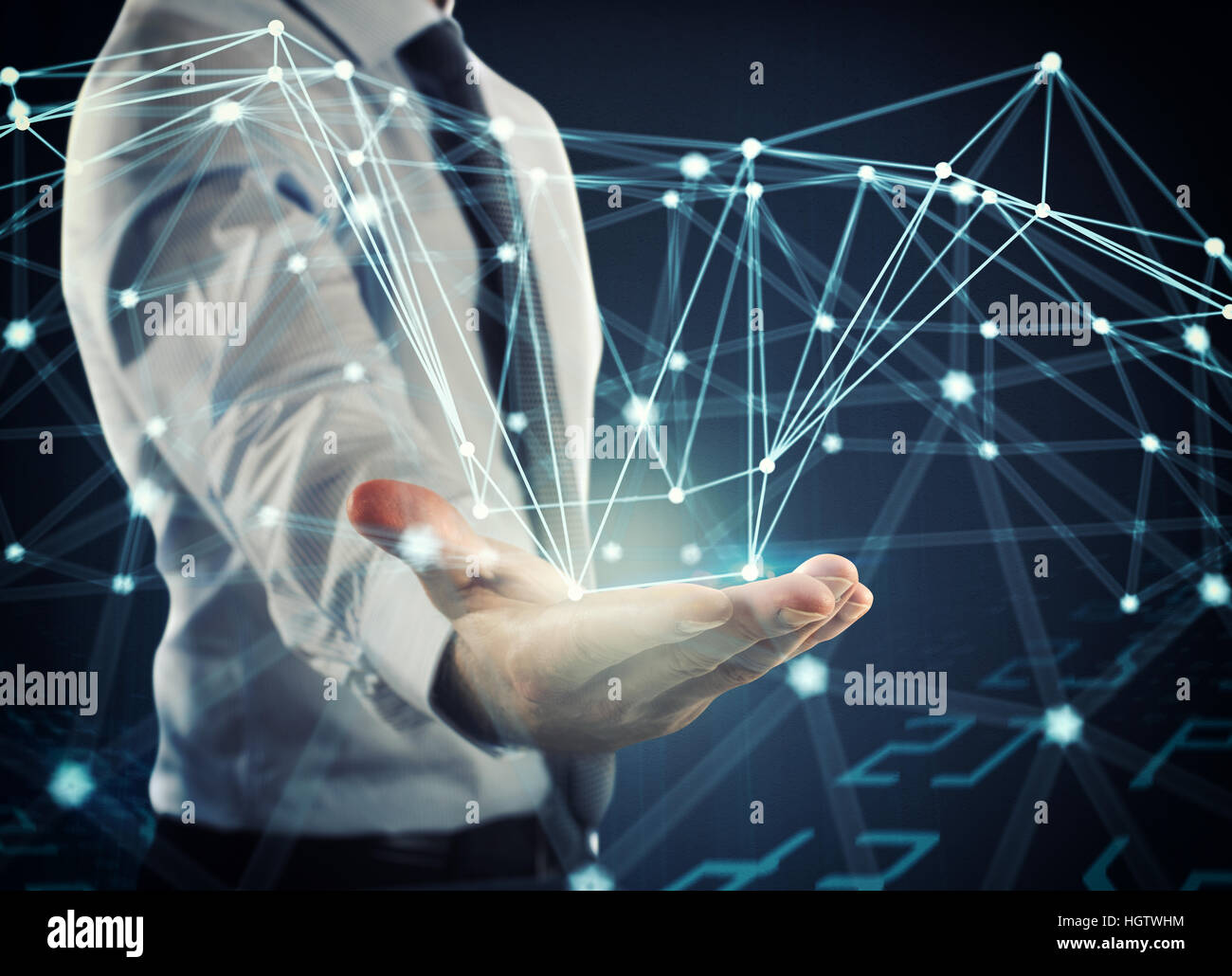System of interconnection of network Stock Photo