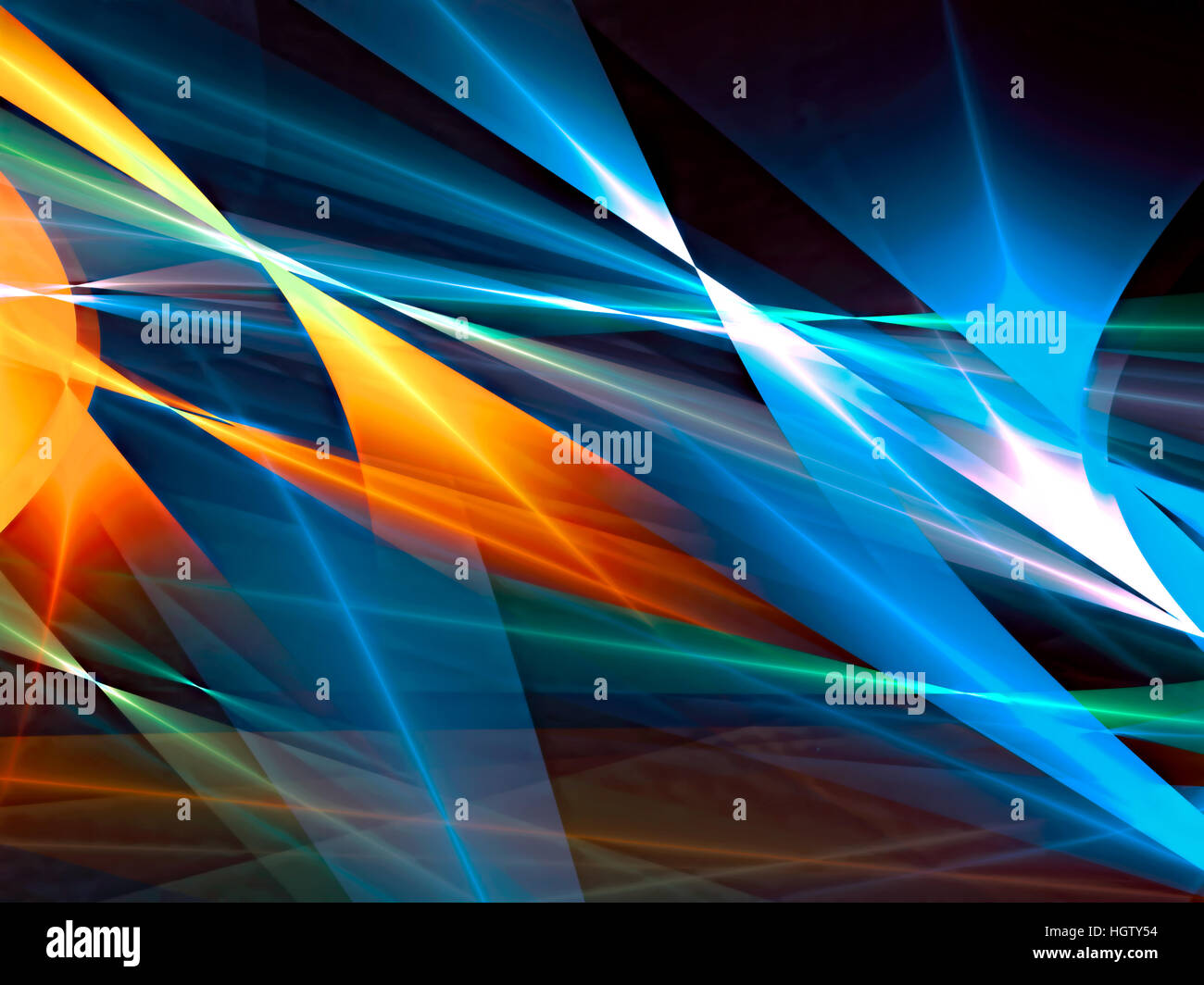 Colourful abstract background - digitally generated image - Stock Image