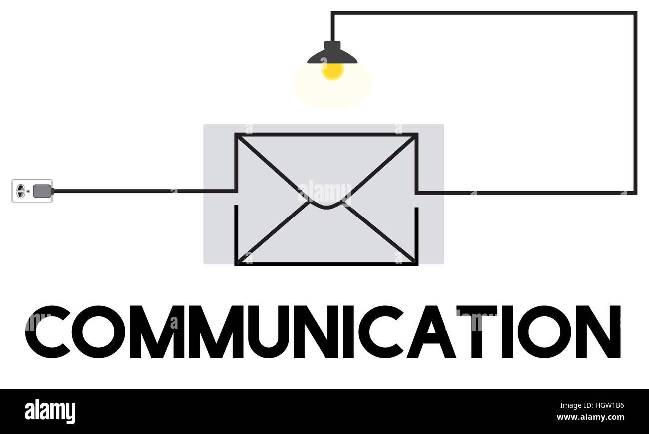 E-mail Message Inbox Communication Concept - Stock Image