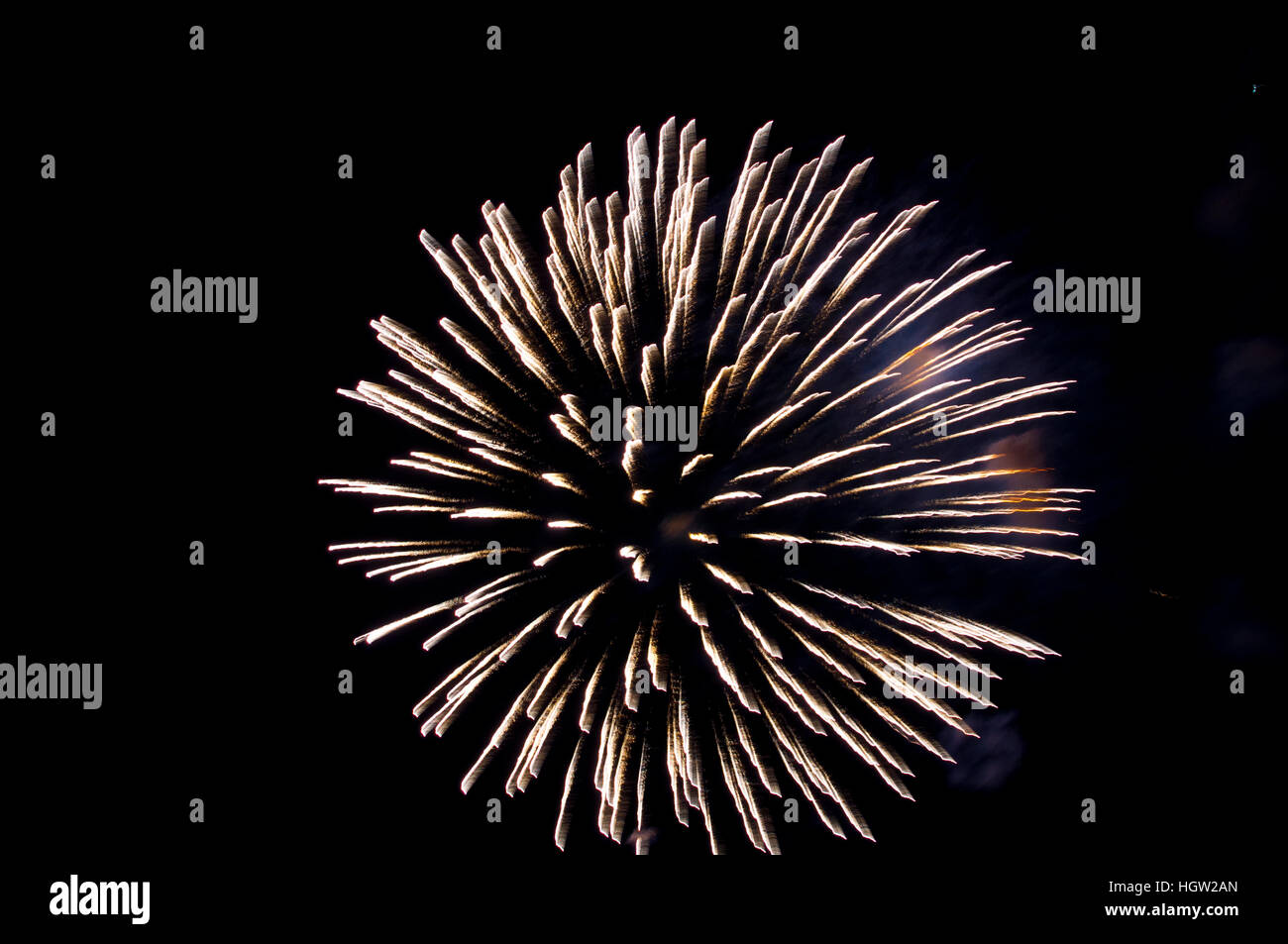 Minnesota, Mendota Heights, Sky Bursts Fireworks - Stock Image