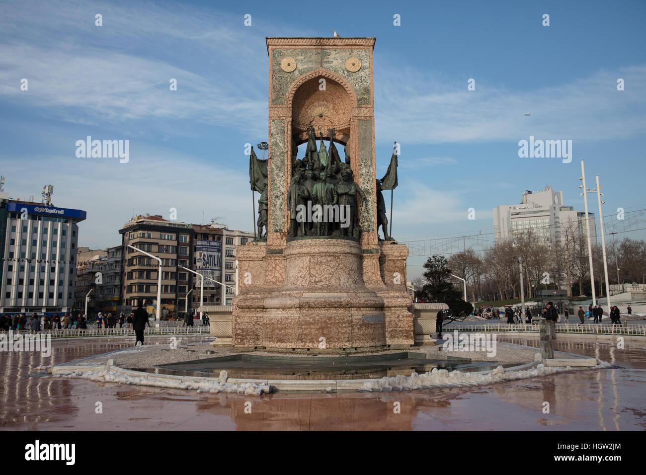 Curious monument in Taksim Square (Istanbul) 83