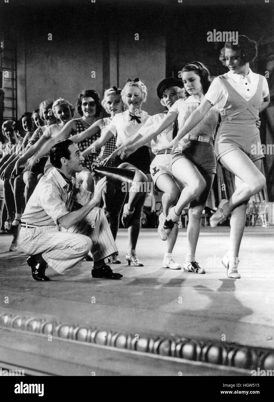 42nd STREET 1933 Warner Bros film with Andy Lee - Stock Image