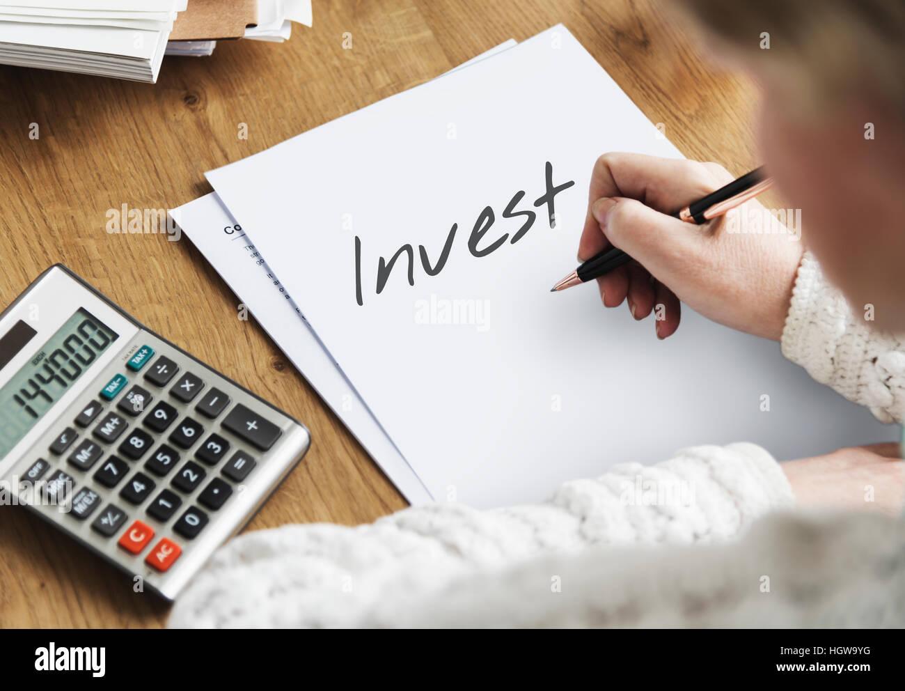 Where to Invest Entrepreneur Investment Financial Risk Assessment Concept - Stock Image