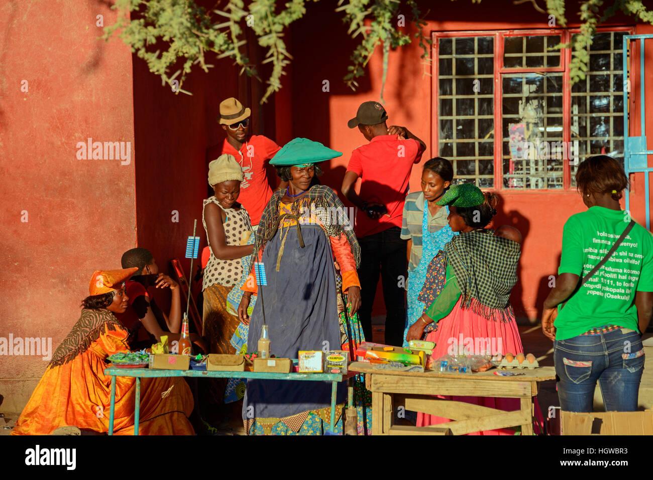People, Opuwo, Namibia - Stock Image