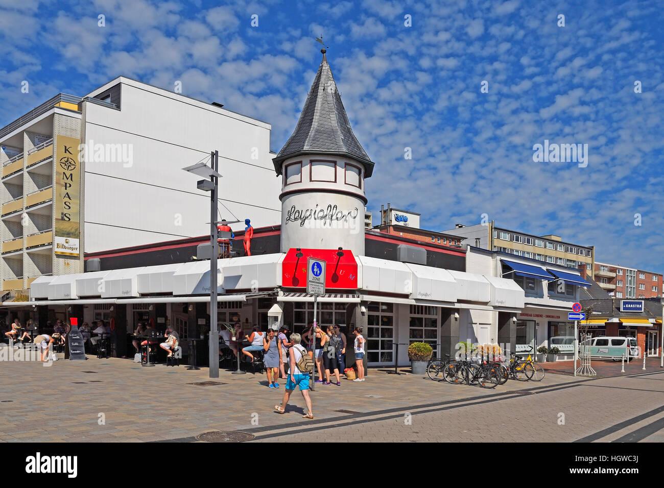 Filiale der Firma Leysieffer in der Friedrichstrasse in Westerland, Hauptseinkaufsstrasse, Sylt, nordfriesische - Stock Image