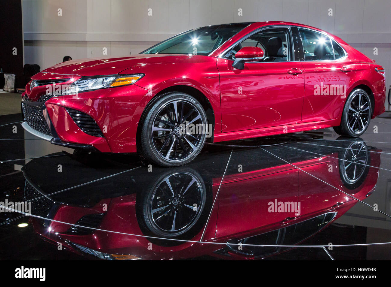 Camry With Bbs Rims Toyota Red Stock Photos Images Alamy Detroit Michigan The 2018 On Display At North American International Auto