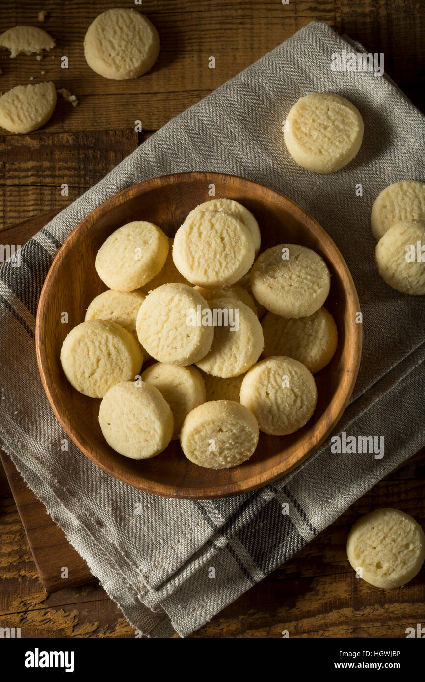 Homemade Sweet Shortbread Cookies Ready to Eat - Stock Image