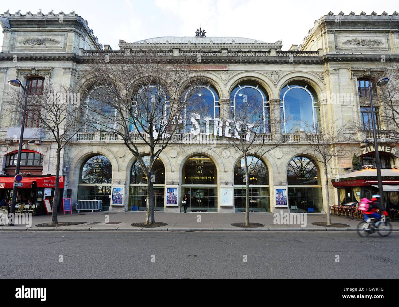 The Theatre du Chatelet theater in Paris showing the American musical 42nd Street - Stock Image