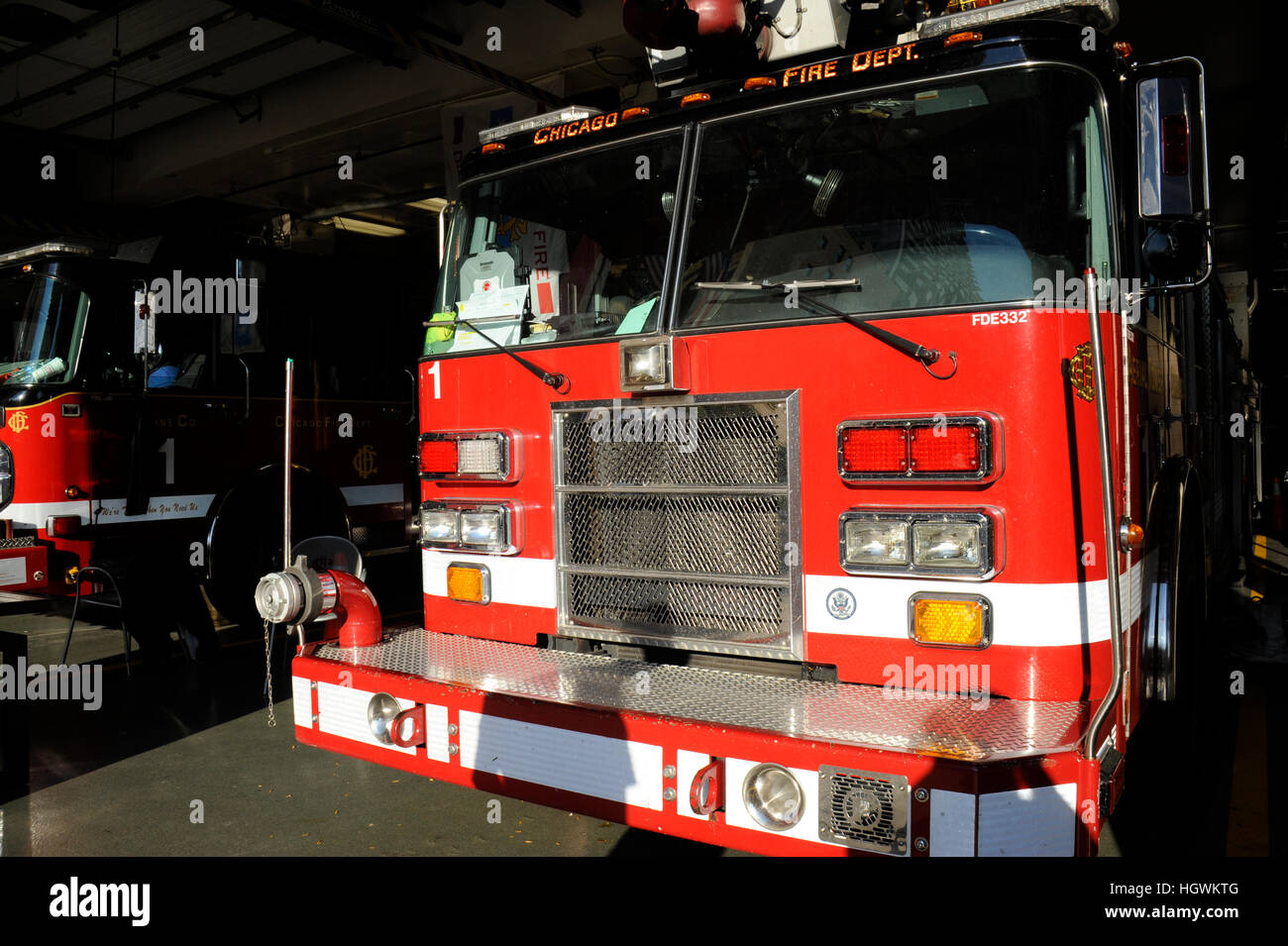 Chicago Fire Department, Chicago, Illinois - Stock Image