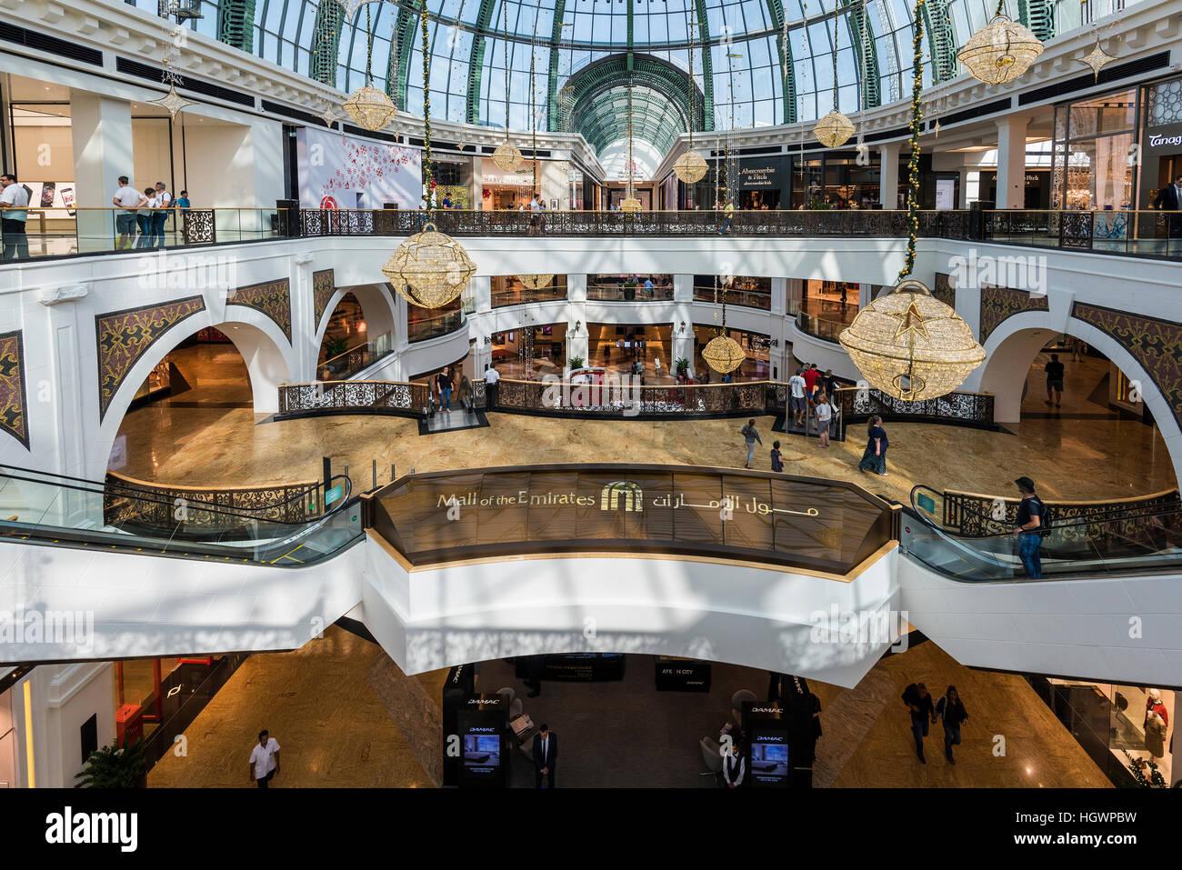Mall of the Emirates shopping mall, Dubai, United Arab Emirates - Stock Image
