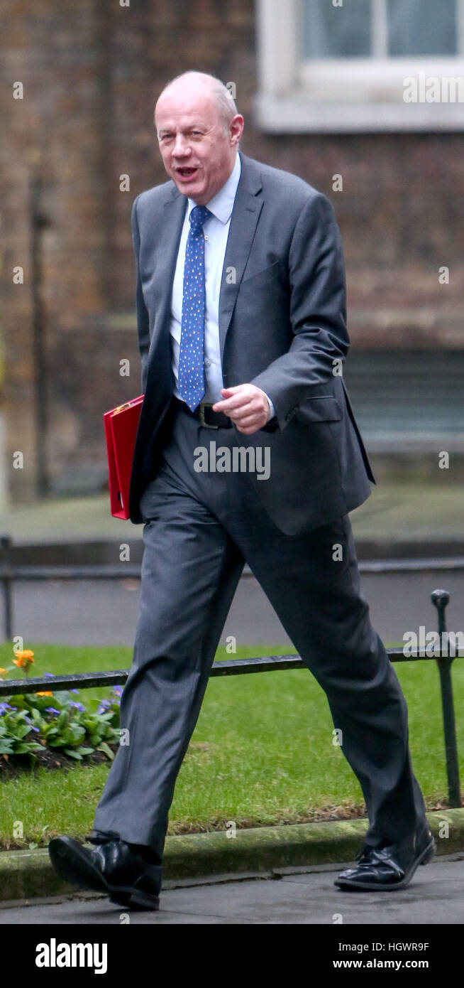 Damian Green, Secretary of State for Work and Pensions, attending the weekly Cabinet meeting at 10 Downing Street, - Stock Image