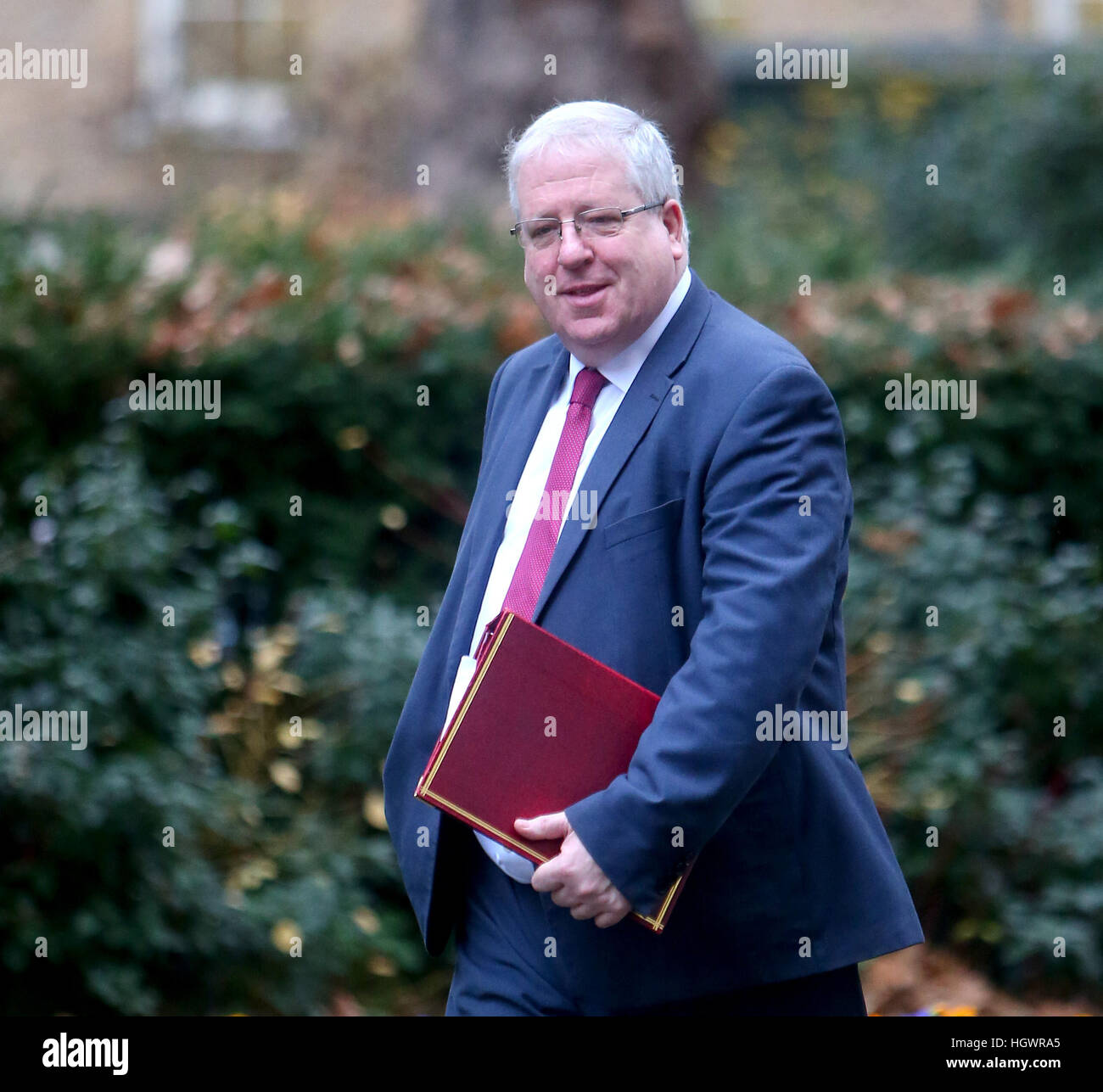 Patrick McLoughlin, Chancellor of the Duchy of Lancaster, attending the weekly Cabinet meeting at 10 Downing Street, - Stock Image