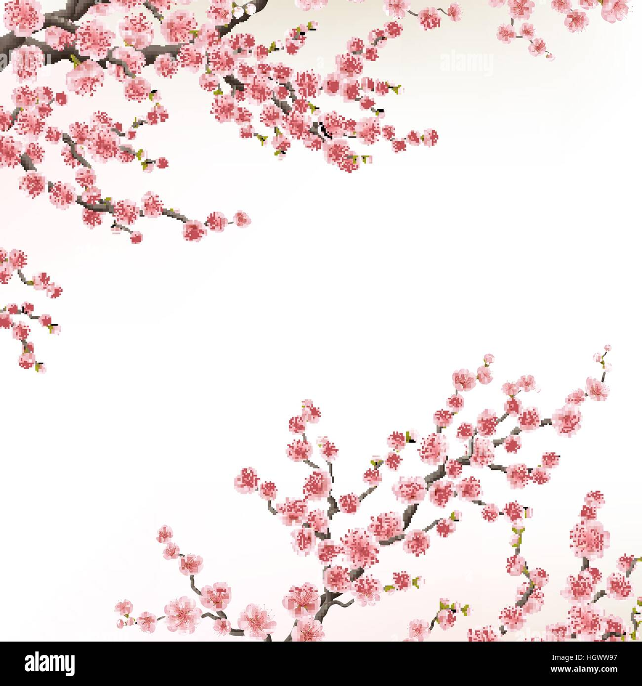 Invitation cards with a blossom sakura eps 10 stock vector art invitation cards with a blossom sakura eps 10 stopboris Image collections