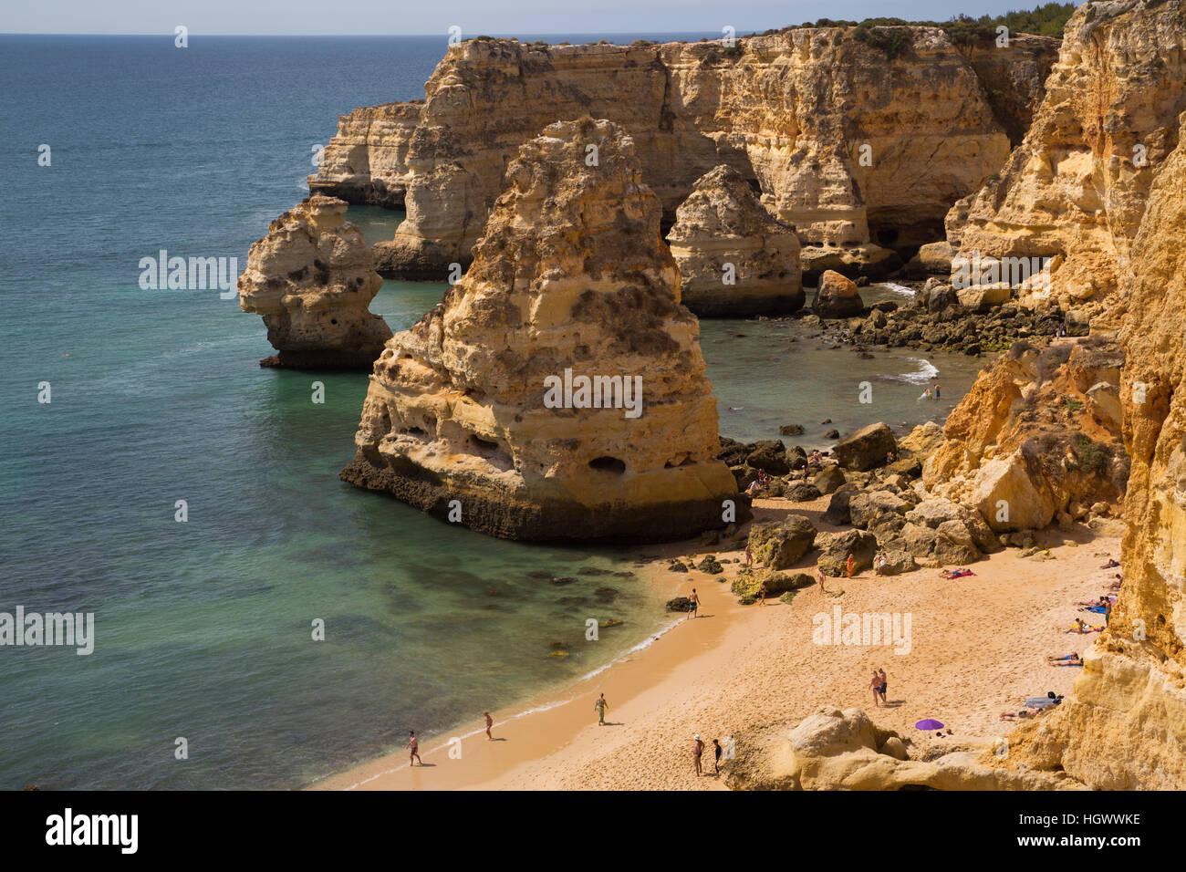 Marinha Beach, near Carvoeiro, Algarve, Portugal Stock Photo